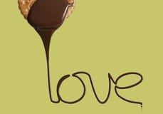 Houd van het chocoladekoekje stock afbeelding