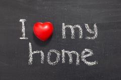 Houd van mijn huis Stock Foto