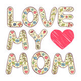 Houd van mijn mamma Royalty-vrije Stock Foto