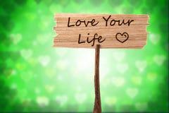 Houd van uw het levensteken Stock Afbeelding