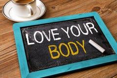 Houd van uw lichaam Stock Foto