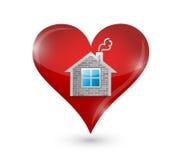 Houd van uw ontwerp van de huisillustratie Stock Fotografie