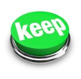 Houd Word de Groene 3d Knoop Greep op verzamelt Voorraad behoudt stock illustratie