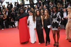 Houda Benyamina, Jisca Kalvanda, Majdouline Idrissi, Oulaya Amamra and Deborah Lukumuena Royalty Free Stock Image