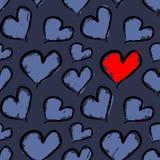 Houdend van hart Naadloos patroon Royalty-vrije Stock Foto