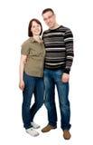 Houdend van paar in studio Royalty-vrije Stock Afbeelding