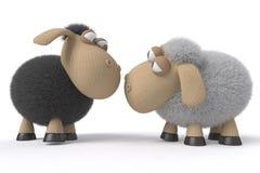 Houdend van paar van schapen Stock Afbeeldingen