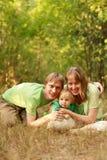 Houdende van familie Stock Foto