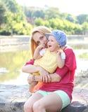 Houdende van Moeder Stock Foto