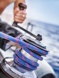 Houder van kabel op zeilboot Royalty-vrije Stock Afbeelding