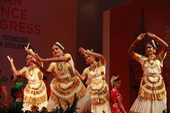 Houdingen van Indische klassieke dansen royalty-vrije stock foto