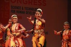 Houdingen van Indische klassieke dansen royalty-vrije stock afbeelding
