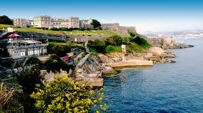Houe de Plymouth - vue d'océan image libre de droits