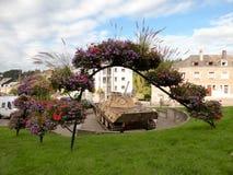 HOUFFALIZE - SEPTEMBER 11: Panterbehållare av 116th uppdelning som är knockad under striden av Ardennes Arkivfoton