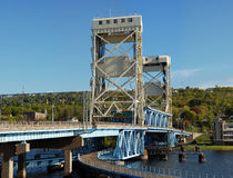 Houghton county bridge in Michigan Royalty Free Stock Image