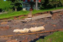 Houghton Flash Flood Damage Arkivbild