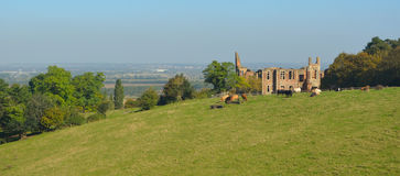 Houghton House Bedfordshire royalty-vrije stock foto's