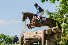 Houghton international horse trials Ben Way riding Croisiere Royalty Free Stock Images
