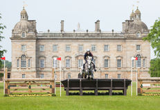 Houghton international horse trials Helen Shaw riding Glenmiskan Royalty Free Stock Photo