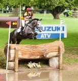 Houghton internationella hästförsök Annie Bellamy som rider Grafik Arkivbilder
