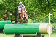 Houghton internationella hästförsök Gemma Tattersall som rider Chil Arkivbilder