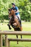 Houghton internationella hästförsök Matthew Wright som rider Zoe Fotografering för Bildbyråer
