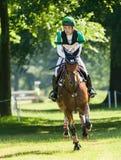 Houghton internationella hästförsök Ryuzo Kitajima som rider Feroza Arkivbild
