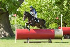 Houghton internationella hästförsök Zoe Wilkinson som rider Craignu Arkivbild
