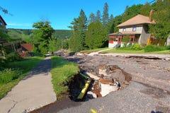 Houghton Michigan Flood Damage June 2018 Royaltyfria Foton