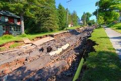 Houghton Michigan Flood Damage June 2018 Arkivfoton