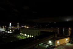 Houghton Michigan przy nocą Zdjęcia Royalty Free