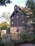 Houghton Mill. Houghton Mill was built during the 17th Century, it was a working mill with three water wheels untill 1930 Royalty Free Stock Photography