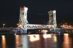 Houghton Vertical lift bridge Royalty Free Stock Photo