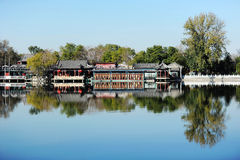 Houhai jezioro, Pekin Obraz Stock