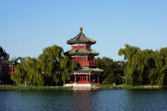 The Houhai lake. In Beijing Stock Photo
