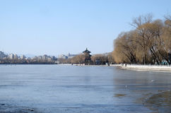 Houhai lake in Beijing. Houhai lake, the area is also known as Shichihai and consists three lakes in the north of Beijing, China stock photography