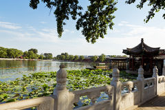 Houhai Lake, Beijing, China. The famous Houhai Lake in the old city center of Beijing, China stock photography
