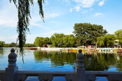 Houhai Lake, Beijing, China Stock Image