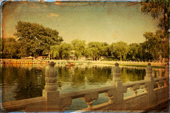 Houhai Lake, Beijing, China Stock Photography