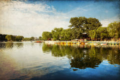 Houhai Lake, Beijing, China Royalty Free Stock Photography