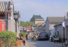 Houhai lake Futong street Beijing China Stock Image
