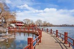 Houhai Lake in the old city center of Beijing, China. The famous Houhai Lake in the old city center of Beijing, China stock images