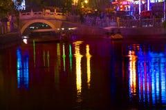 Houhai Lake Silver Ingot Bridge Beijjing China royalty free stock images