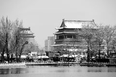 Houhai lake after snow Stock Photography
