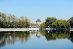 Houhai sjö, Peking Arkivbild