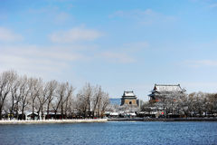 Houhai after snow Stock Photos