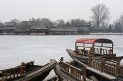 Houhai in winter Royalty Free Stock Photo