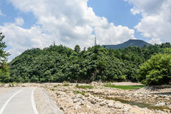 Houhe River and road Stock Photo