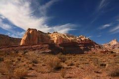 Houle rouge de San Rafael de roche Photographie stock libre de droits