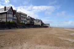 Houlegate-Strand in Normandie stockbild